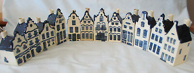 Blue Delft Houses for KLM by BOLS Rynbende Decanters Vintage Set of 11
