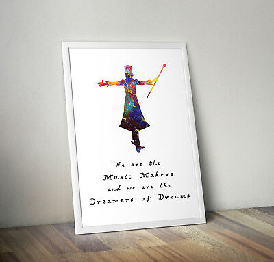 Willy Wonka inspired musical poster print wall art gift merchaindise roald dahl