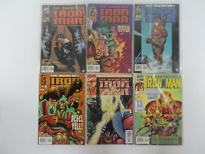 Bundle of The Invincible Iron Man Marvel Comic Books RARE 90s Vintage Job Lot