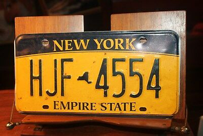 2010 New York Empire State License Plate  HJF 4554