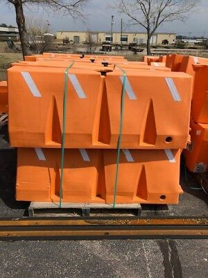 "Used ULINE Orange traffic barrier  60 x 16 x 24""  Sold by the Each"