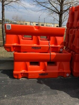 "Used yodock barrier orange  6' long 18"" wide 32"" high Sold each"