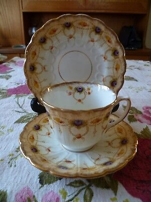 Vintage / Antique W Bros  English China Trio Tea Cup Saucer Plate Tell 2314