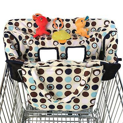 Shopping Cart Cover High Chair Cover For Baby Medium Silky Soft Fabric 2 In 1