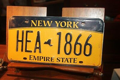 2010 New York Empire State License Plate HEA 1866