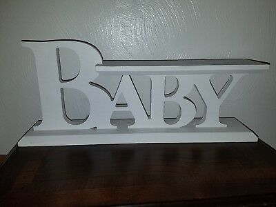 Wooden White Baby Nursery Display Sign