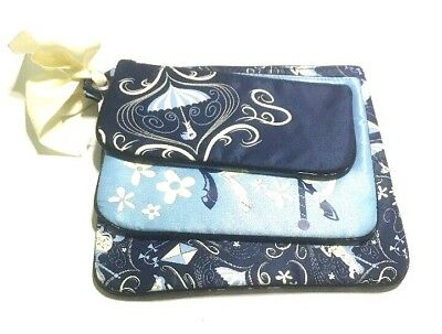 Disney Parks Resort Mary Poppins Travel Cosmetic Makeup Bags Set of 3