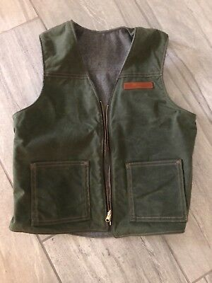 Red clouds collective reversible waxed cotton vest size large