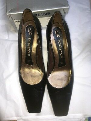 Peter Kaiser Size 8.5 Black Leather Pump