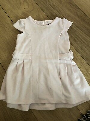 Baby Girls Ted Baker 6-9 Months Pale Pink Dress Spotted