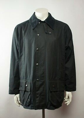 Ex Cond Barbour A196 Beaufort Waxed Jacket Navy Size C44 / 112CM