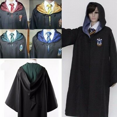 Robe Gryffindor Slytherin Ravenclaw Hufflepuff Halloween Costumes Kids Adult