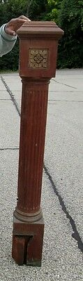 "Large 54"" Antique Victorian Solid Wood Newel Post From A Cincinnati  Estate 496"