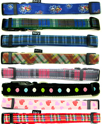 B & C Rosewood Ancol Fashion Adjustable Nylon Dog Collars Leads  Size Choice