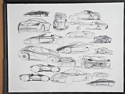 Porsche Boxster Collage Factory Limited Edt graphic Poster RARE!!