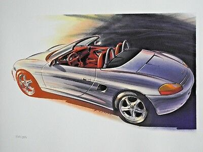 Porsche Boxster Factory Limited Edt graphic Poster RARE!!