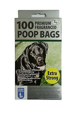 1000 DOGGY BAGS - *EXTRA STRONG PREMIUM FRAGRANCED* Scented Pet Bag Dog Cat Poo