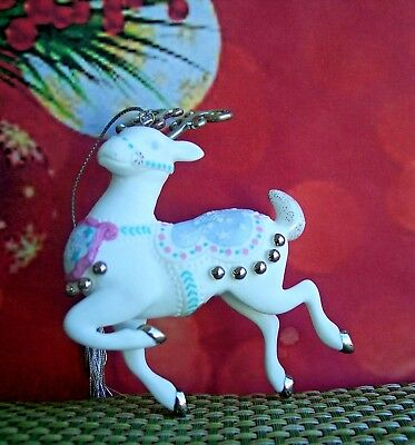 RARE & Collectible LENOX Platinum Reindeer Christmas Ornament