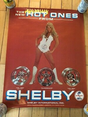 Original Shelby Girl 'THE NEW HOT ONES FROM SHELBY' Wheel Poster RARE