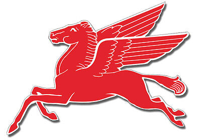 Motor Oil And Gas Large Mobil Pegasus Flying Horse Steel Cut Out  Sign