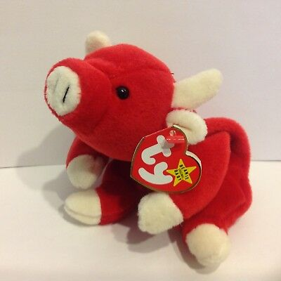 Ty Beanie Baby Snort the Bull NWMT