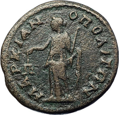ELAGABALUS 218AD Marcianopolis Authentic Ancient Roman Coin NEMESIS i70801