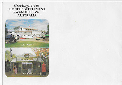 SWAN HILL Victoria Pioneer Settlement greetings stationery P.S. Gem Cobb & Co.