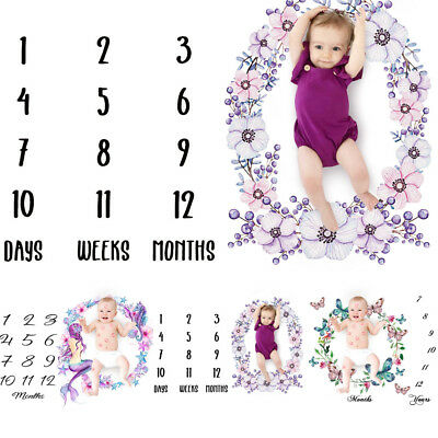 Milestone Blanket Days,Months,Years, Photo Shoot Props Baby Toddler Age Unisex