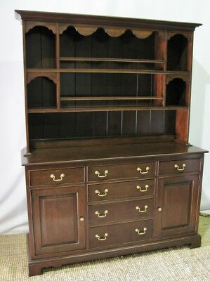 Harden Furniture Chippendale Style Cherry Buffet Hutch Excellent Condition