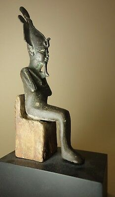 Authentic Ancient Egyptian Seated Bronze Osiris 30 BC Bonhams Sotheby Provenance