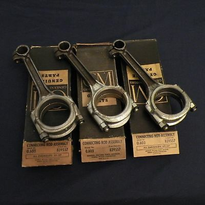 NOS 1937-1947 Chevy Stylemaster Fleetline Trucks Connecting Rods (3) GM 839557