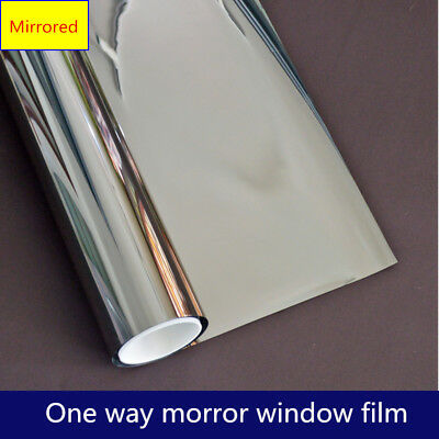 Mirror Solar Reflective Btight Window Film One Way Privacy Tint 1m/2m/3m