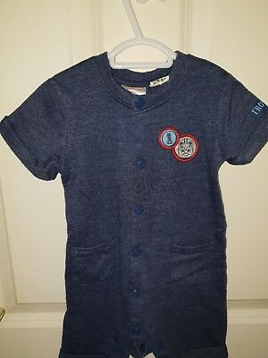 Toddler Boys size 1 Thomas the Tank Summer All in One Jump Suit
