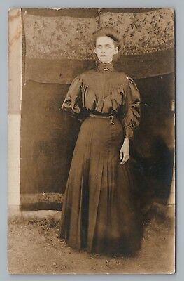 "Emaciated Young Woman ""Ella"" RPPC Strange Antique Photo—Oklahoma Estate—Medical"