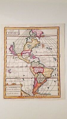 1760 Map of North and South America by Buffier, California as an Island
