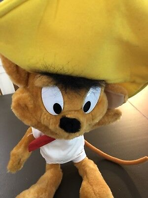 1997 Ace Novelty Looney Tunes Speedy Gonzales 10in Plush Toy Used with Tush Tags