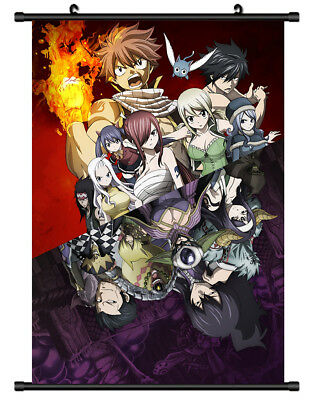 B5743 Fairy tail anime manga Wall scroll Stoffposter 25x35cm