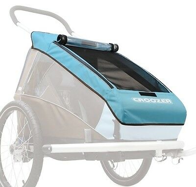 Croozer Verdeck 2in1, skyblue für Kinderanhänger Kid Plus 1, ab 2014 Neu