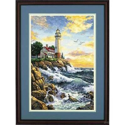 """DIMENSIONS GOLD COLLECTIONS""""ROCKY POINT""""CROSS STITCH KIT  Kreuzstich-Stickpack"""