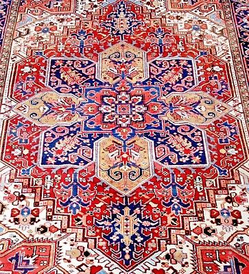 Persian Tabriz-Heriz Authentic Hand-Knotted Collectable Rug (202 cm x 307 cm)