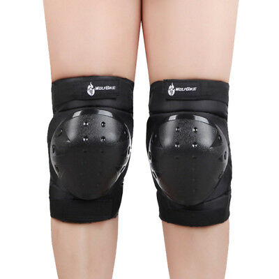 Motorcycle Knee Elbow Safety Skate Pads Protector Gear Sports Skiing Black HC