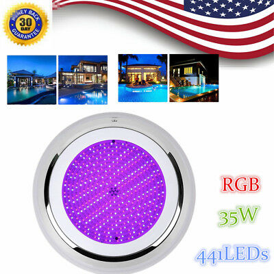 35W LED RGB 7 Colors 12V Underwater Swimming Pool Bright Light 441LED