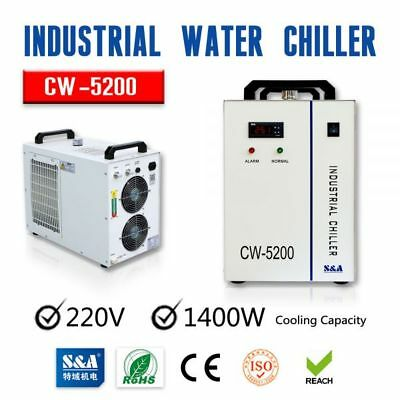 220V 60Hz CW-5200BH Water Chiller for One 8KW Spindle/One 130-150W CO2 LaserTube