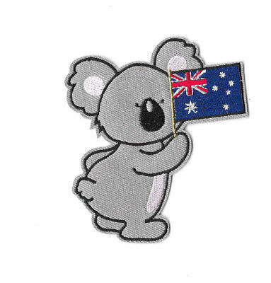 KOALA AUSTRALIA Iron on / Sew on Patch Embroidered Badge Motif Souvenir PT427