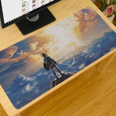 The Legend of Zelda  Large Gaming Mouse Pad 90*40CM Mat Locked Desk Keyboard Mat