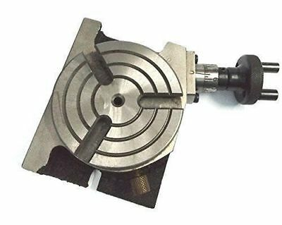 """3"""" ROTARY TABLE 80mm HORIZONTAL VERTIKAL WITH3 SLOTS FOR MILLING ROTARY TABLE 3"""""""