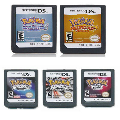 5 Styles Pokemon Game Card For Nintendo 3DS NDSi NDS Lite US English Version AU
