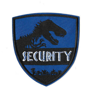 JURASSIC PARK SECURITY Iron on Patch Embroidered Badge Cosplay Costume PT437