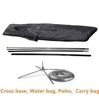 High Quality- 11.5 ft Pole with Cross Base and Water Bag Flag Banner Stand