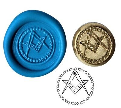 Masonic Freemason Wax Stamp Seal Starter KIT or Buy Coin Design  XWS039B/XWSC013